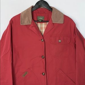 L. L. Bean Women's Red Barn Coat with Many Pockets